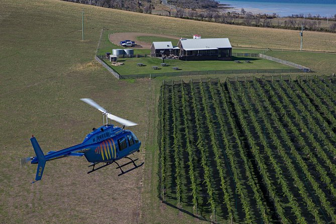 Bangor Vineyard Shed Helicopter Tour
